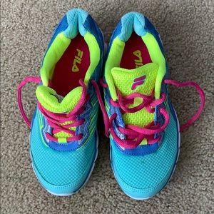 Colorful kids sneakers